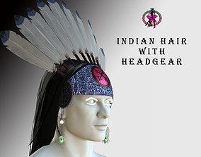 3D asset Indian Hair with Headgear