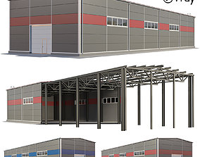 warehouse hangar warehousing 3D model