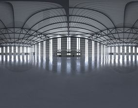 3D model HDRI - Airplane Hangar Interior 2