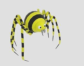 3D asset Sphere Strip Spider