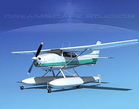 Cessna 182 Skylane Seaplane V12 3D