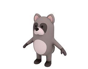 Cartoon Raccoon 3D forest