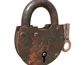3D The padlock