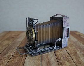 3D asset low-poly Vintage camera