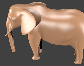 3D model lowpoly elephand