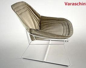 Chapeau armchair by Varaschin 3D model