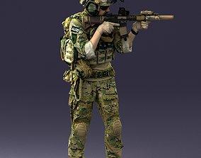 warrior soldier 0722 3D print ready