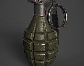 3D asset MK2 Grenade