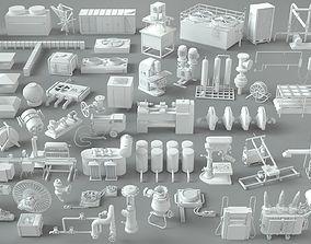 3D model Factory Units-part-2 - 57 pieces
