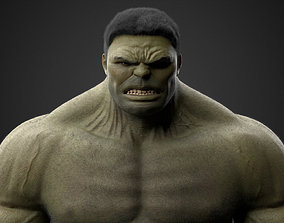 The Hulk 3D asset rigged