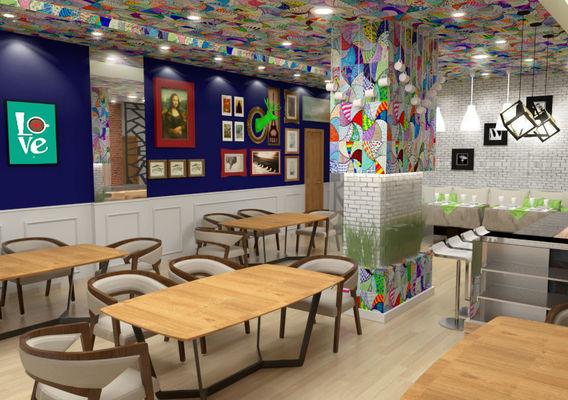 Modern industerial coffee shop design