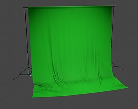 Green Screen Stand HLW - PBR Game Ready 3D model