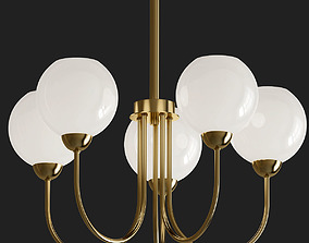 3D model Carisa Collection 5 Light Vintage Gold 2