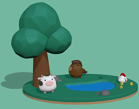 A cute Little Farm to decorate and play 3D print model