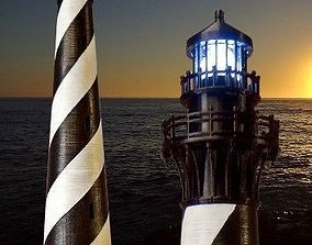 3D printable model Cape Hatteras Lighthouse