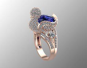 Duck Gold ring 3D print model