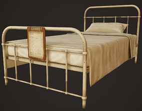 3D asset Hospital Bed - PBR Game Ready