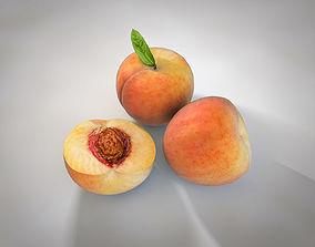 3D model low-poly Peach