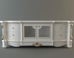 3D model Ornate Credenza Cabinet