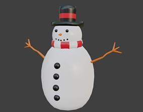ginger 3D asset VR / AR ready Snowman
