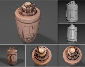 Rusty sci-fi generator-like device 3D model