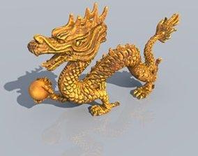 3D model Gold dragon