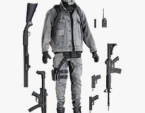 Terroris Uniform With Equipment 3D asset