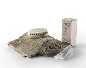 Rexa Spa Set Towel Brush and Cream 3D model