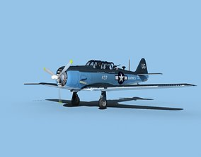 North American SNJ armed V05 US Marines 3D model