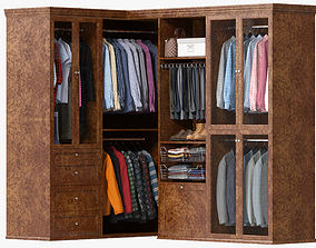 3D model Wardrobe with Clothes 09