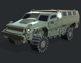 3D asset MRAP Armored Vehicle
