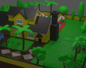 House and Garden Environment 3D asset