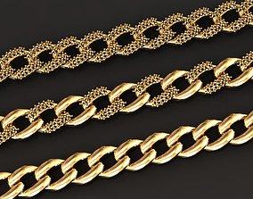 women 3D print model chain