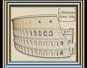 3D model Colosseum Panno STL File for CNC Relief engraving
