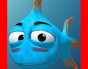 3D model Blue Fish