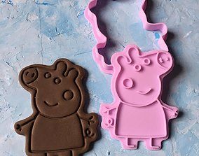Peppa Pig Cookie Cutter 3D print model
