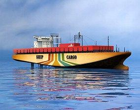 commercial Cargo ship 3D model