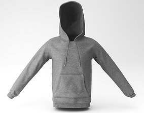 sweat hoodie 3D model
