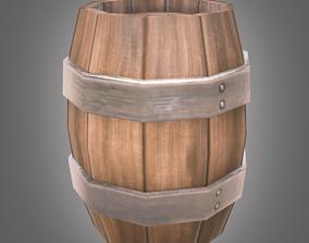 Barrel Low Poly 3D asset