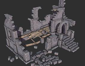 3D model Ruined House