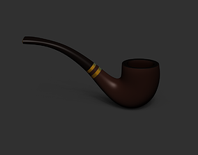 Smoking Pipe - Tobacco for Character Costumes or 3D asset