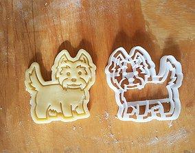 3D printable model West Terrier dog cookie cutter