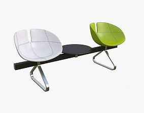 3D model Fjord Bench Sistema Two Table