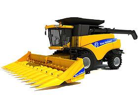 3D New Holland Harvester