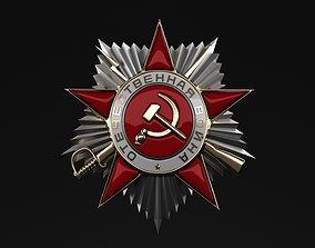 3D USSR Russian Military WW2 Great Patriotic War Medal