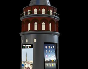 galata tower construction 3D