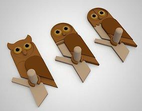 3D printable model owl hanger