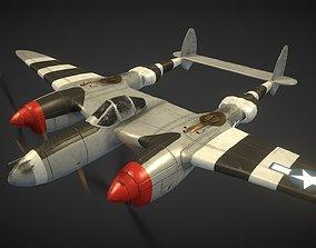 Lockheed P-38 Lightning 3D asset