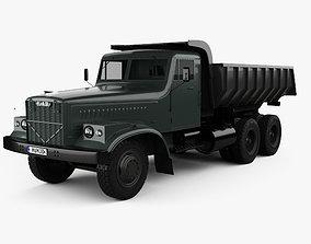 3D model KrAZ 256B Dump Truck 1966