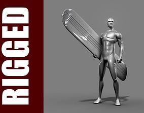 Silver Surfer Rig 3D model